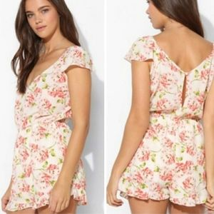 Anthro Pins And Needles Floral Romper Size M